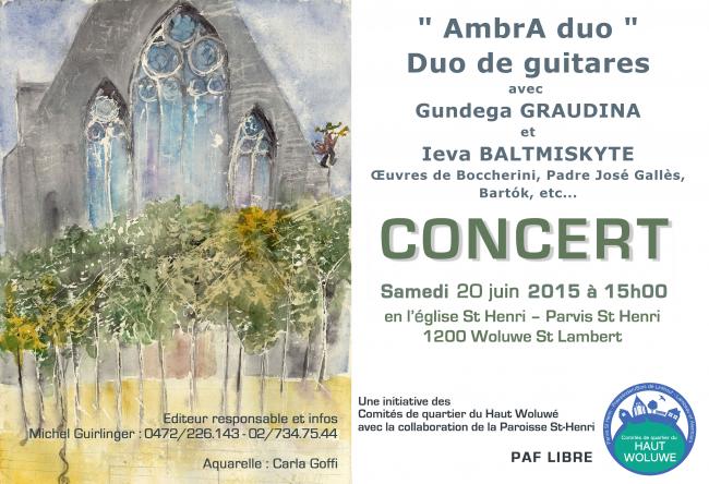 Affiche Concert Parvis St Henri (20 juin 2015)